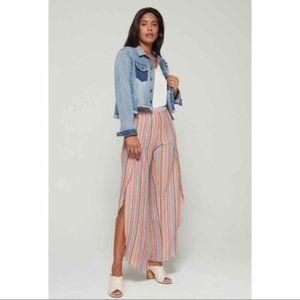 DREW Wide Split Leg Linen Blend Pants NWT NEW M